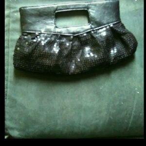 Black sequence purse